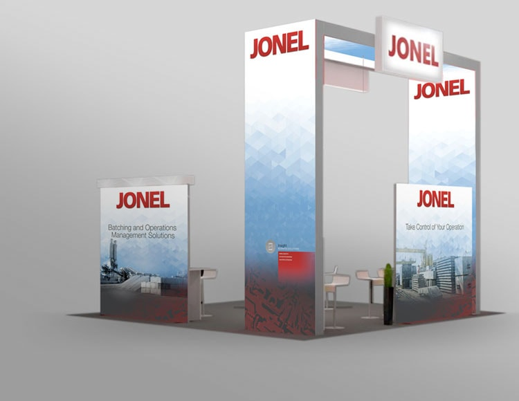 Tradeshow booth design for client Jonel