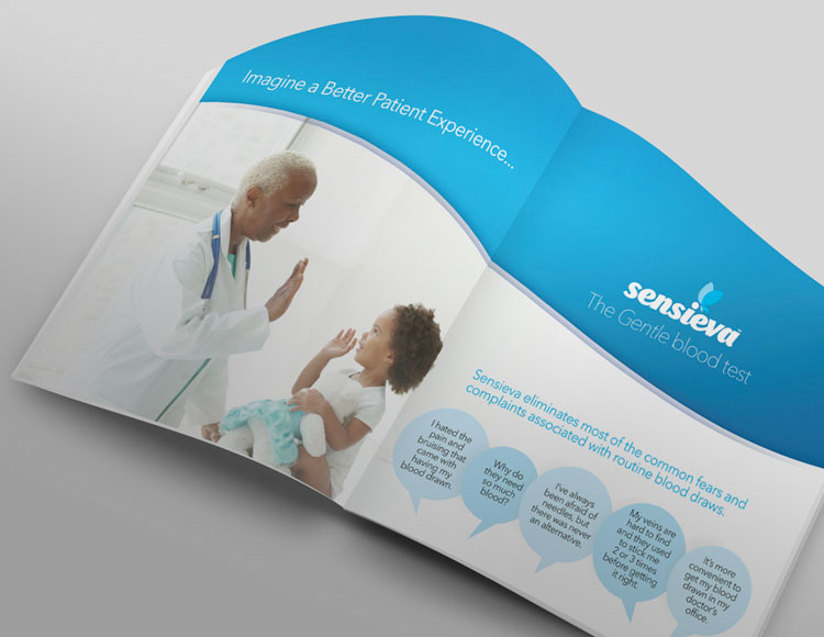 Brochure for client Senseiva open to first page